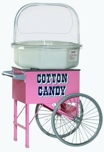 cotton candy machine on cart
